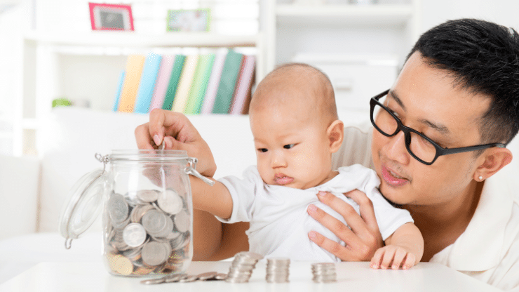 baby helping with finances